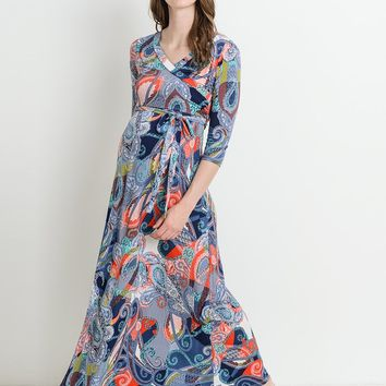 Hope Paisley Maternity & Nursing Maxi Dress