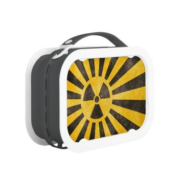 Grunge Nuclear Radioactive Sign Lunch Box