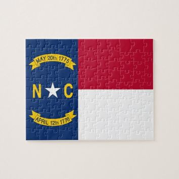 Puzzle with Flag of North Carolina State