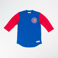 M&N Chicago Cubs In The Clutch Henley - 'Blue/Red'