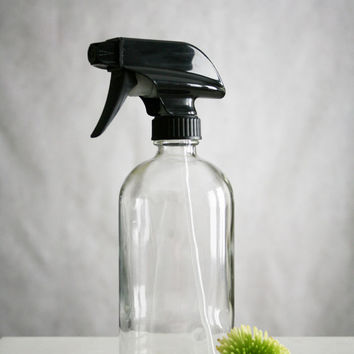 Glass Cleaner Bottle with Black Spray Nozzle
