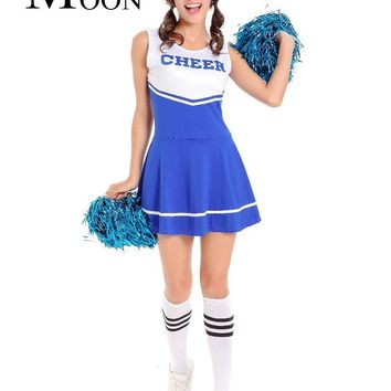 MOONIGHT Cheerleading Cheerleader Costume Aerobics Clothing Uniforms for Performances Halloween Fancy Dress