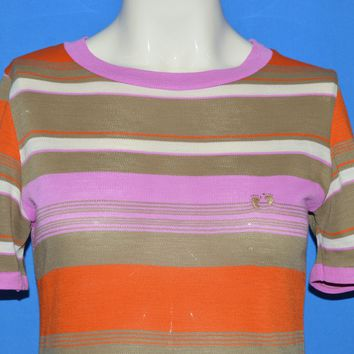 70s Hang Ten Striped Women's t-shirt Small