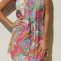 KEORO Resort wear - Aruba Dress Paisley Pink | ShopMiamiStyle