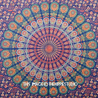 Hippie Mandala Wall Tapestries, Indian Bohemian Tapestry Wall Hanging, Boho Tapestry Throw, College Tapestries, Tapestries for Dorms, Wall Decor, Indian Bed Spread (60 X 90 Inches)