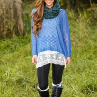 How Forever Feels Sweater-Sapphire