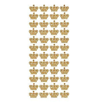 Royal Crown Rhinestone Stickers, 3/4-Inch, 48-Count, Gold