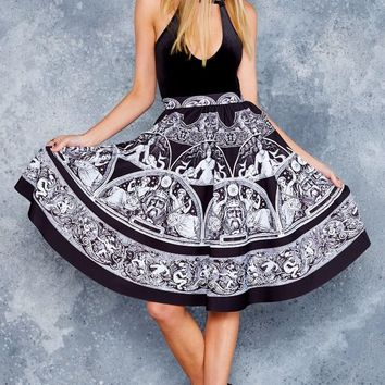 ALL GREEK TO ME POCKET MIDI SKIRT - LIMITED