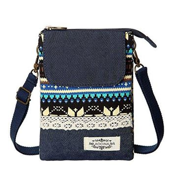 Cell Phone Purse Wallet Canvas National Style Women Small Crossbody Purse Bags