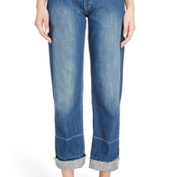 Loewe Embroidered Crop Straight Leg Jeans   Nordstrom