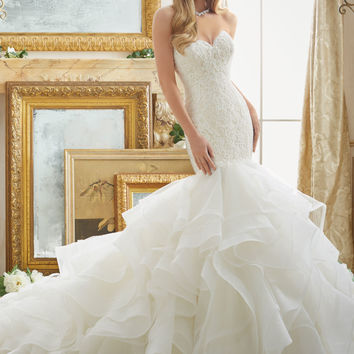 Lace and Tulle and Organza Mermaid Wedding Dress | Style 2879 | Morilee