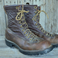 Vintage 60's Danner Lace To Toe Mountaineer Hiking Work Boots, womens 7.5