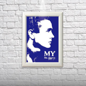 My Mr Darcy james dean poster jane austin- home decor illustration wall art cafe art poster digital poster art print A4