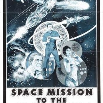 Space Mission To The Lost Planet Movie poster Metal Sign Wall Art 8in x 12in
