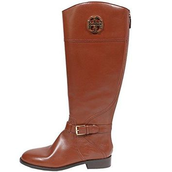 Tory Burch Boots Adeline 20mm Riding Boot Tumbled Leather Veg Leather