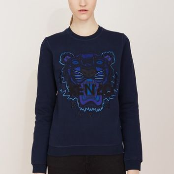 Kenzo Tiger Cotton Molleton Sweatshirt - WOMEN - JUST IN - Kenzo - OPENING  CEREMONY ff59fc08b4