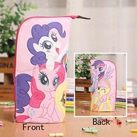 Anime My Little Pony Waterproof PU Leather Stationery Pouch/Brush Pot/Pen Holder/Pencil Case Bag/Office School Supplies
