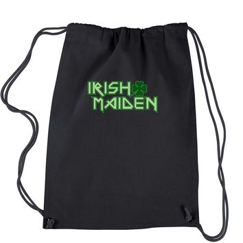 Irish Maiden ShamRocker Drawstring Backpack