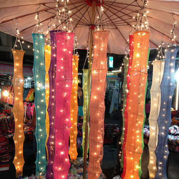 Hanging Lights Cotton Yarn Set Fantastic Decor by thailights