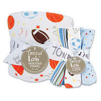 Trend Lab Little MVP Hooded Towel and Wash Cloth Gift Set