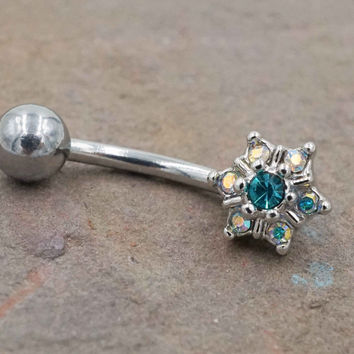 Flower Daith Piercing Rook Earring Eyebrow Ring