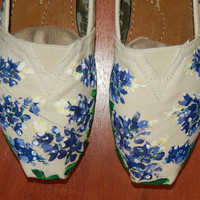 Custom TOMS  Bluebonnets your size your by PurpleLizardStudio