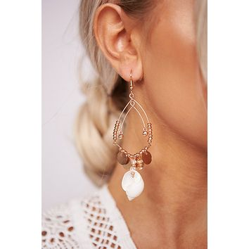 Know My Name Dangle Earrings (Rose Gold)