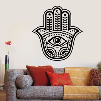 Vinyl Wall Decal Amulet Hamsa Hand of God Fatima Talisman Stickers Unique Gift (651ig)