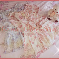 Liz Lisa / My Melody 2013 Collaboration Watercolor Roses Chiffon Dress (NwoT)