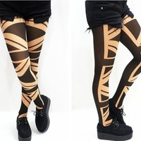 Triangle Edgy Pattern Tights/ pantyhose