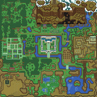 Hyrule/Light World Zelda A Link to the Past Silk Poster