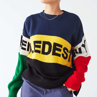 UO Wordy Colorblock Pullover Sweater | Urban Outfitters