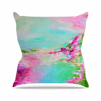 "Ebi Emporium ""Something About the Sea 2"" Teal Pink Throw Pillow"