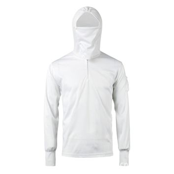 Anti UV Quick Dry Long Sleeve Sun Protection Hooded Clothes with Mask for Outdoor Sports Camping