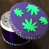 GRINDER -- Purple Pot Leaves