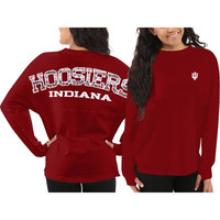 Indiana Hoosiers Women's Aztec Sweeper Long Sleeve Top – Crimson
