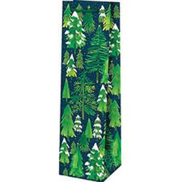 Snowy Trees Wine Gift Bag