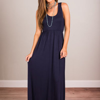 Time In The Sun Maxi Dress, Navy