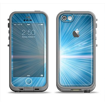 The Bright Blue Light Apple iPhone 5c LifeProof Fre Case Skin Set