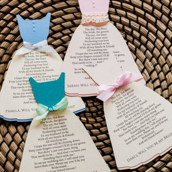 Will you be My Bridesmaid/ Bridesmaid Proposal/ Bridesmaid Invitation/ Bridal Party/ Matron of Honor/Wedding Gown Invitation