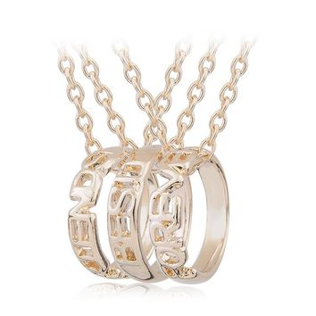 Korean Accessory Fashion Gold Ring Hot Sale Pendant [11666780815]
