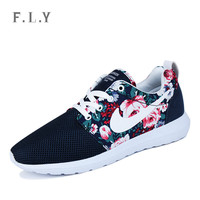 2015 Fashion new walking mens trainers breathable shoes Floral Mesh men women shoes Outdoor casual lovers zapatos Plus size