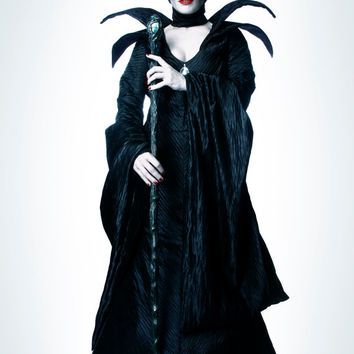 Maleficent Couture Costume v.A Villain Dress Gown Horns Headpiece Custom Made Adult