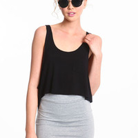 CROPPED JERSEY TANK TOP