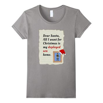 Military Deployed Son Father Christmas T-Shirt