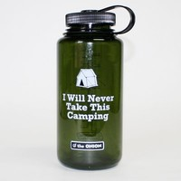 Onion Store > 'I Will Never Take This Camping' Water Bottle