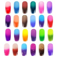 YESURPRISE Temperature Change Color Soak Off Nail Art UV Gel Polish Glitters DIY Decoration 005