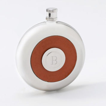 Initial Oxford Flask with Shot - Engraved - Personalized - Groomsmen Gift- (275)