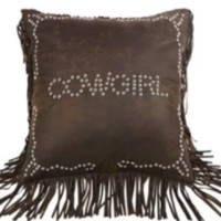 Cowgirl Kim Studded Cowgirl Pillow