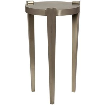 Joshwa Side Table, Antique Silver